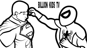 Spiderman vs Superman Coloring Book Coloring Pages Kids Fun Art ...