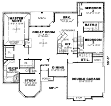 3 bedroom 2 bath house plans. Contemporary Bedroom European Style House Plan  3 Beds 200 Baths 2295 SqFt 34 Intended Bedroom 2 Bath Plans F
