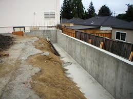 image of concrete retaining walls
