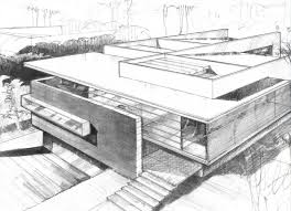 modern architectural sketches. Sketch Picture At Contemporary Godoy House In Jalisco Home Modern Architectural Sketches