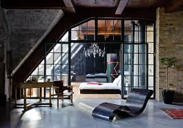 Bedroom, Brick Wall With Cool Lounge Chair Design Feat Luxurious Loft  Bedroom Idea And Orange