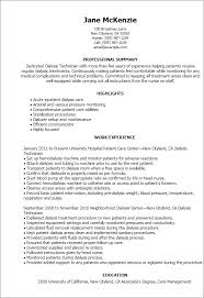 Resume Templates: Dialysis Technician
