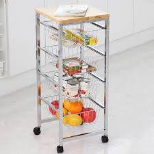 pristine moving kitchen organizer storage rack 4 stage diy stainless wood drawer