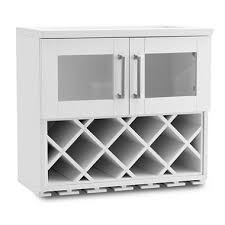 NewAge Products Home Bar Wall Wine-Rack Cabinet (White)
