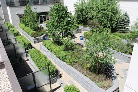 green roof block wall planters