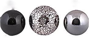 Black And Silver Decorative Balls Decorative Balls set of 100 Black Silver Mosaic Amazoncouk 2