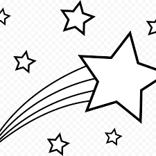 coloring book star shooting clip art stars drawing png remarkable black and