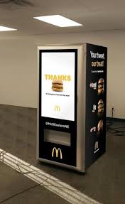 Customized Vending Machines Beauteous This Machine Will Serve You A Free Big Mac The Boston Globe