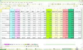 Example Of Budget Spreadsheet For Business Home Yearly Budget