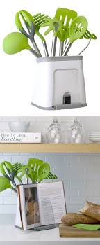 cookbook holder and utensil crock // keeps everything you need for cooking  in one handy holder (Gifts For Cooks Kitchen Gadgets)