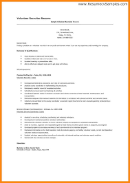 volunteer resume volunteer resume template on proposal volunteer resume template