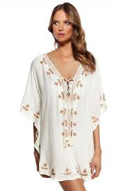 Aliexpress Com Buy New 2016 White Embroidered Chiffon Caftan