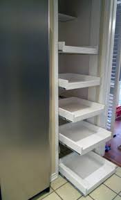 Pantry For A Small Kitchen Saving Small Kitchen Spaces With Narrow Diy Pantry Pull Out