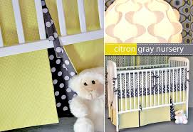 Crib Skirt Pattern Adorable Michael Miller Fabrics' CitronGray Nursery Pleated Crib Skirt