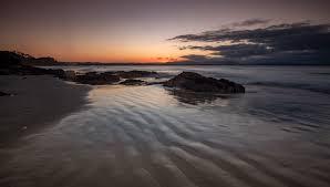 Little Wategos Beach sunset Byron Bay New South Wales, Australia
