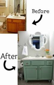 diy bathroom furniture. before and after 20 awesome bathroom makeovers diy remodel budgeting furniture a