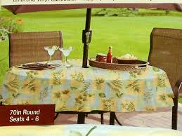 decor tips 70 inch round outdoor leaves tablecloths with umbrella