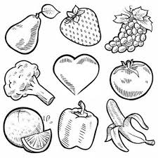 Small Picture Fruit And Veggie Coloring Pages Health Pinterest Sunday school