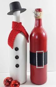 How To Decorate A Wine Bottle For Christmas Tis the season A perfect addition to your holiday decor or a 45
