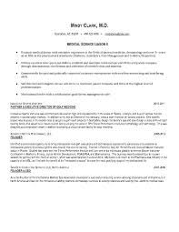 Medical Science Liaison Resume