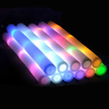 Glow Light Toys Foam Led Toy Multi Color Glow Light Toy Stick Led Foam Baton Glow Stick For Wedding Party Concert Props