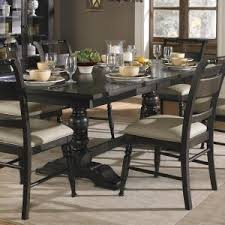 7 piece trestle dining room table setliberty furniture wolf with regard to fancy dining room