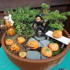 Small Picture Halloween decoration fairy garden ideas small garden ideas