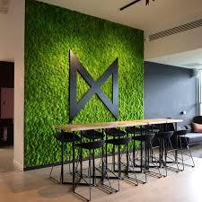 Greenmood Design Preserved Green Wall Indoor Ball Moss Greenmood
