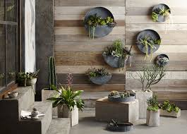 zinc planters don t take up much space but will look great on a wall
