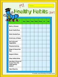 Chart On Healthy Habits Chore Charts Free Chores Healthy Habits Manners Responsibility And More
