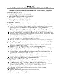 Manufacturing Engineering Sample Resume Manufacturing Engineer Sample Resume Production Planning Examples 5