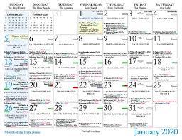 Liturgical calendar 2021 template with pdf. Roman Catholic Calendar 2020