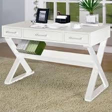 white wood office furniture. Coaster Desks Desk With Three Drawers In White Wood Office Furniture E