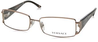 Versace Blue Light Glasses Amazon Com Versace Ve1163b 1013 Eyeglasses Brown Demo Lens