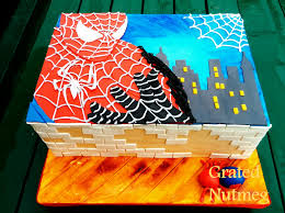 Spiderman Cake Grated Nutmeg