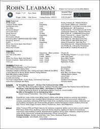 Actors Resume Actors Resume Example Nicetobeatyoutk 49