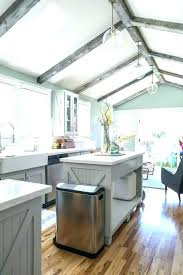 wood beam cathedral ceiling kitchen ideas a vaulted with skylights and wooden beams styles cathe cathedral ceiling ideas