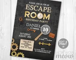 Puzzle Invitation Etsy