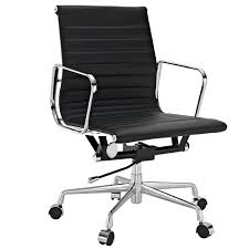 office chair in black genuine leather view larger
