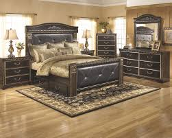 Image great mirrored bedroom furniture Bedroom Decor Coal Creek Pc Bedroom Dresser Mirror Queen Bed With Underbed Storage Bearpath Acres Coal Creek Pc Bedroom Dresser Mirror Queen Bed With Underbed