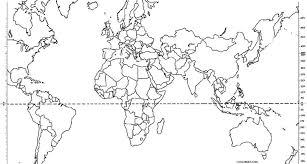Printable coloring pages for kids. Printable World Map Coloring Page For Kids