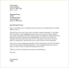 Free Example Of Resignation Letters Resignation Letter Free Example Of Resignation Letter Free