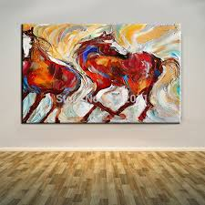 handmade 2016 new items unique animal paintings abstract horse painting on canvas for friends best gifts