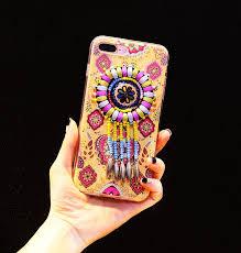 Dream Catcher Case Iphone 7 Plus Silicone Case Beads Dream Catcher TPU Cover For Girls iPhone 100 14
