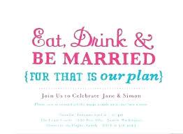 Wedding Party Invitation Ideas Informal Post Wedding