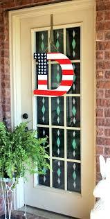 storm door wreath hanger patriotic monogram door hangers flag letter door hanging front door ideas door
