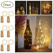 Amazon Cork Bottle Lights Youngforce Bottle Lights 6 Packs Cork Shape Bar String Led Lights For Wine Bottle Glass Decor Copper Wire Diy Lights With Screwdriver For Party Warm