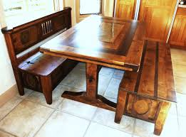 Bench Style Kitchen Tables Kitchen Tables With Bench Appealing Dinette Furniture Triangle