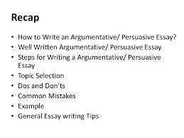 evaluation essay lecture recap how to write an argumentative  recap how to write an argumentative persuasive essay