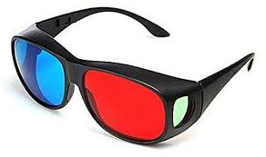 fashion tanson new tiger wolf 3d red and blue glasses plastic frame red and blue three dimensional glasses in the box red and blue glasses